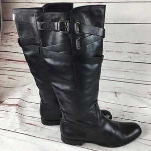 Coach Cayden Leather Riding Boot Black 8 1/2B